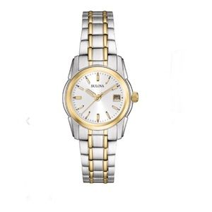 NWT Bulova Classic stainless steel two-tone watch